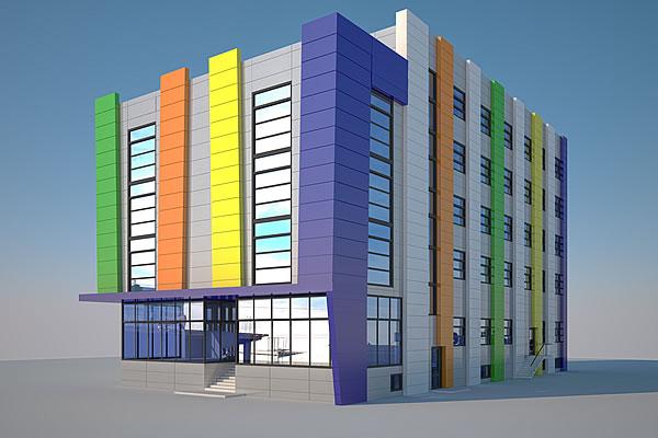Фасады коммерческих зданий